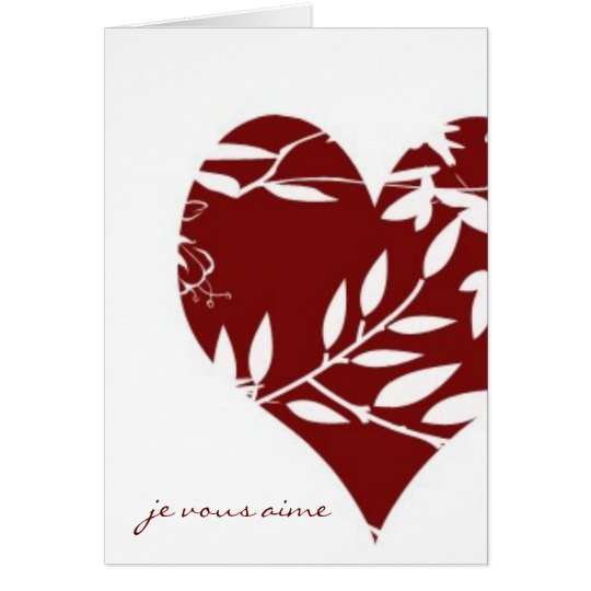 French Toile Valentine - I Love You (Formal) Card