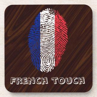 French touch fingerprint flag coaster