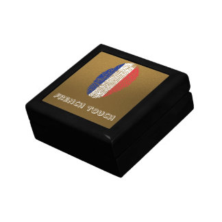 French touch fingerprint flag gift box