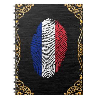 French touch fingerprint flag notebooks