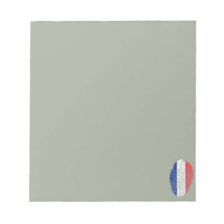 French touch fingerprint flag notepad