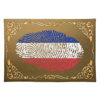 French touch fingerprint flag placemat