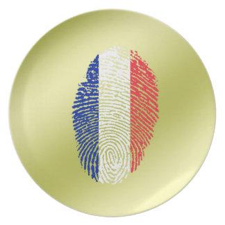 French touch fingerprint flag plate