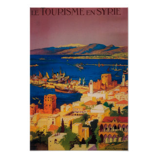 French Travel Poster Touring in Syria