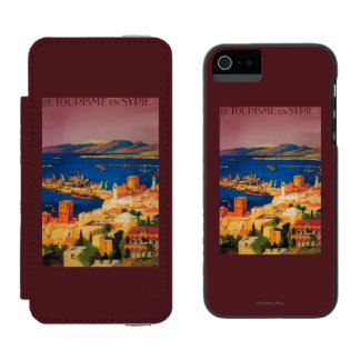 French Travel Poster, Touring in Syria Incipio Watson™ iPhone 5 Wallet Case