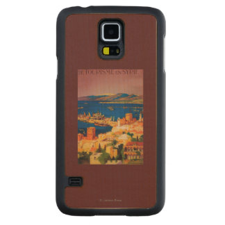 French Travel Poster, Touring in Syria Maple Galaxy S5 Slim Case