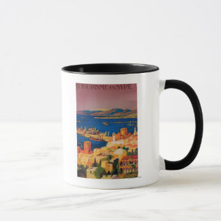 French Travel Poster, Touring in Syria Mug