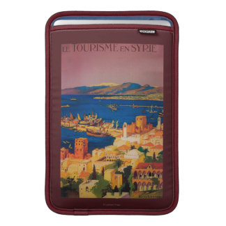 French Travel Poster, Touring in Syria Sleeve For MacBook Air