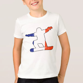 French Tricolor SNOWBOARDER (blk) T-Shirt