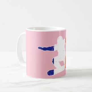 French Tricolor SNOWBOARDER (wht) Coffee Mug