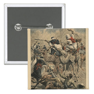 French troops in Sahara 15 Cm Square Badge