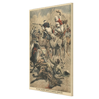 French troops in Sahara Canvas Print