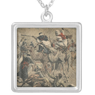French troops in Sahara Silver Plated Necklace