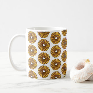 French Twist Glazed Breakfast Donut Doughnut Food Coffee Mug