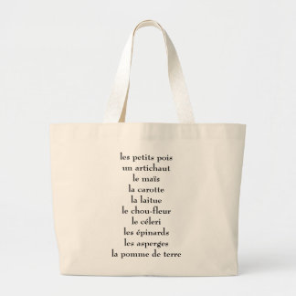French veggies large tote bag