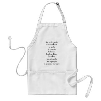 French veggies standard apron