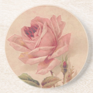 French Victorian Pink Rose Coaster