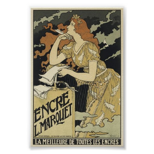 French Vintage Art Nouveau Poster
