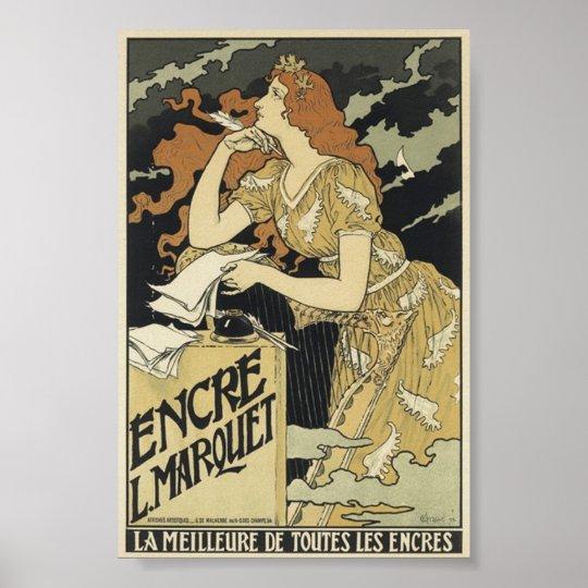 French Vintage Art Nouveau Poster
