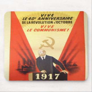 French Vintage Communist Propaganda Mousepad