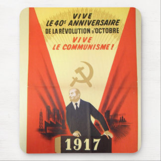 French Vintage Communist Propaganda Mouse Pad