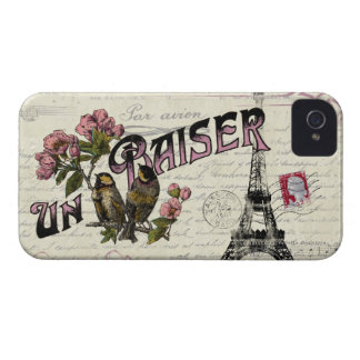 French Vintage Love iPhone Case