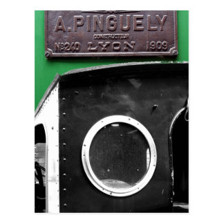 French Vintage Plaque 1909 Steam Engine Postcard