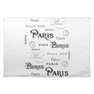 french vintage typography design Paris Place Mat