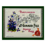 French Violette Perfume Label Poster