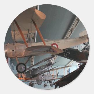 french war museum round sticker