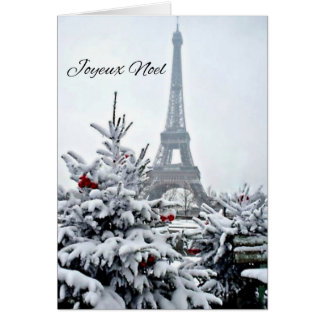 French White Christmas Card