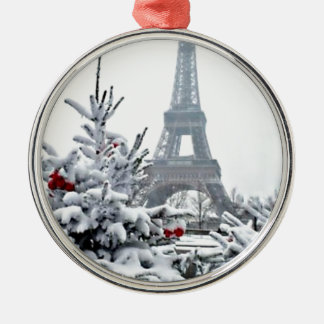 French White Christmas Christmas Ornament