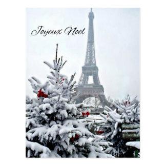 French White Christmas Postcard