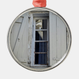 French window christmas ornament