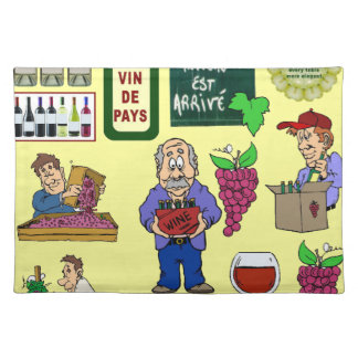French wine placemat