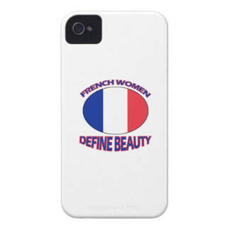 french women designs Case-Mate iPhone 4 case