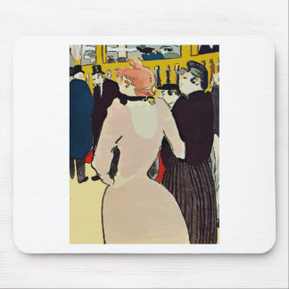 French Women Walking Mouse Pad