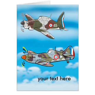 French ww2 fightres greeting card