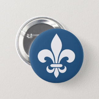 French YOUR COLORS of patriotic Quebec flower of 6 Cm Round Badge