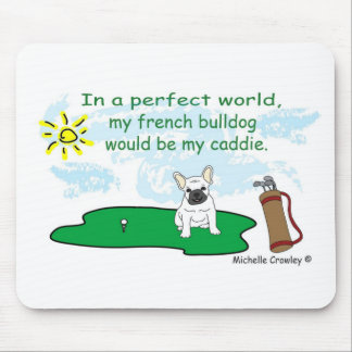 FrenchBulldogWt Mouse Pads