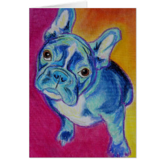 Frenchie #1 greeting card
