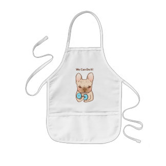 Frenchie Can Do It With You Kids Apron