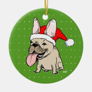 Frenchie Clause Christmas Ornament