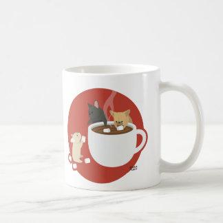 Frenchie Cocoa Basic White Mug