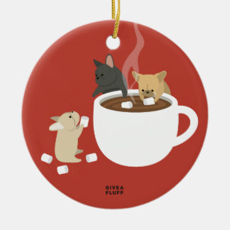 Frenchie Cocoa Christmas Ornament