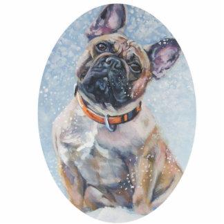 frenchie french bulldog Christmas Ornament Photo Cutouts