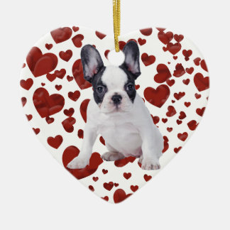 Frenchie - French bulldog puppy Christmas Ornament