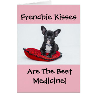Frenchie Kisses - Get Well Soon Card