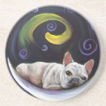 Frenchie Moon Coaster