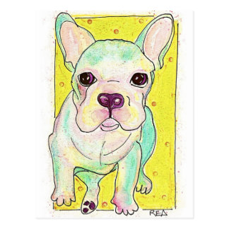 Frenchie Postcard